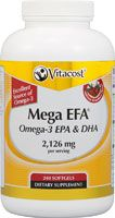 1200 for $15 - but processed/refinde Vitacost Mega EFA® Omega-3 EPA & DHA Fish Oil