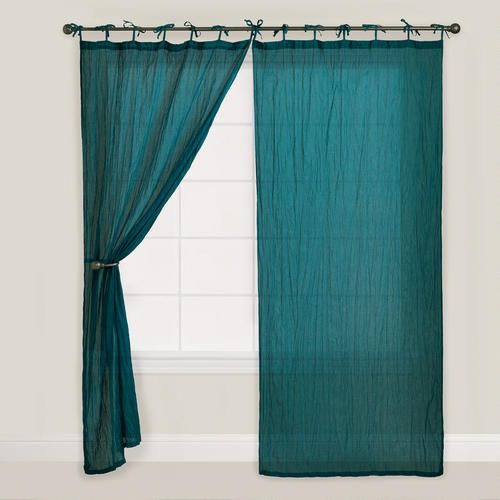 One of my favorite discoveries at WorldMarket.com: Teal Crinkle Voile Curtain