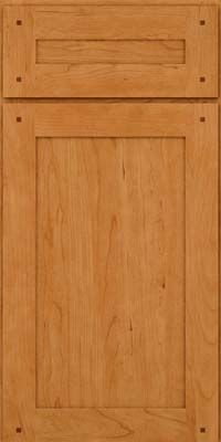 KraftMaid Cabinets  Square Recessed Panel   Veneer (LBD) Cherry In Natural    Base