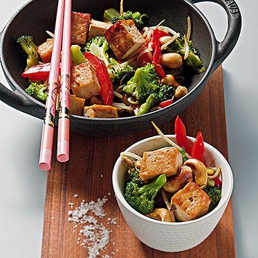 Pfannengerührter Brokkoli mit Tofu **** #vegetarian #chinese #recipe