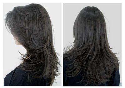 Modelos de cortes repicados para cabelos longos