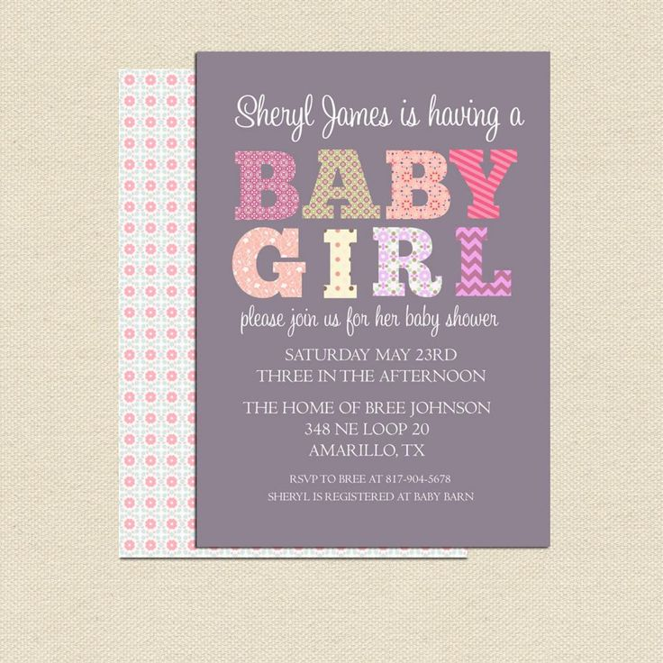 17 Best images about party baby shower Brynn on Pinterest Prince - how to make a baby shower invitation on microsoft word