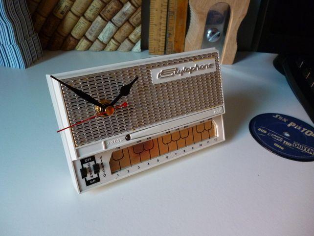 Retro Clock Stylophone Geek Chic 1970s Upcycled... - Folksy