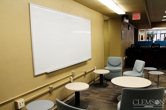 LC furniture    Uncommonly large whiteboard in the Learning Commons by clemsonunivlibrary, via Flickr