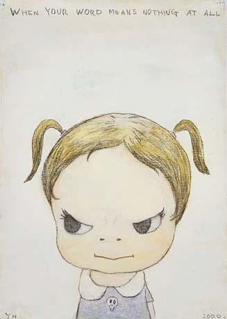 yoshitomo+nara | Yoshitomo Nara >>> 奈良美智>>>會瞪人的娃娃