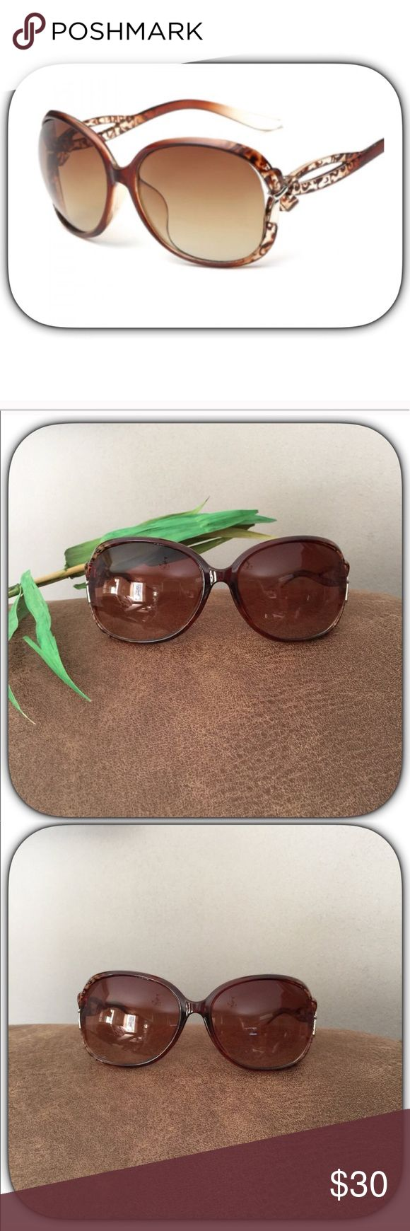 NWT Gorgeous Brown Tortoise Style UV Sunglasses These are really super cute fashion sunglasses! Everything looks so pretty and sunny bright looking through them! They are up protected! Boutique Accessories Glasses