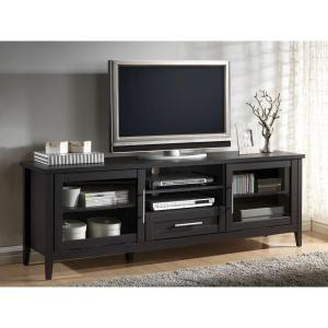 Baxton Studio Espresso TV Stand in Dark Brown 28862-5371-HD at The Home Depot - Mobile