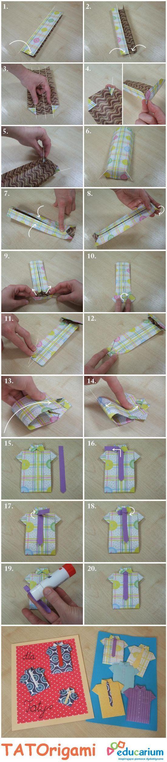 Koszula origami krok po kroku