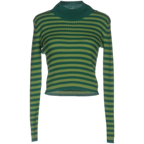 Air Jumper By Scaglione Jumper ($145) ❤ liked on Polyvore featuring tops, sweaters, green, long sleeve tops, jumpers sweaters, jumper top, green sweater and merino wool sweater