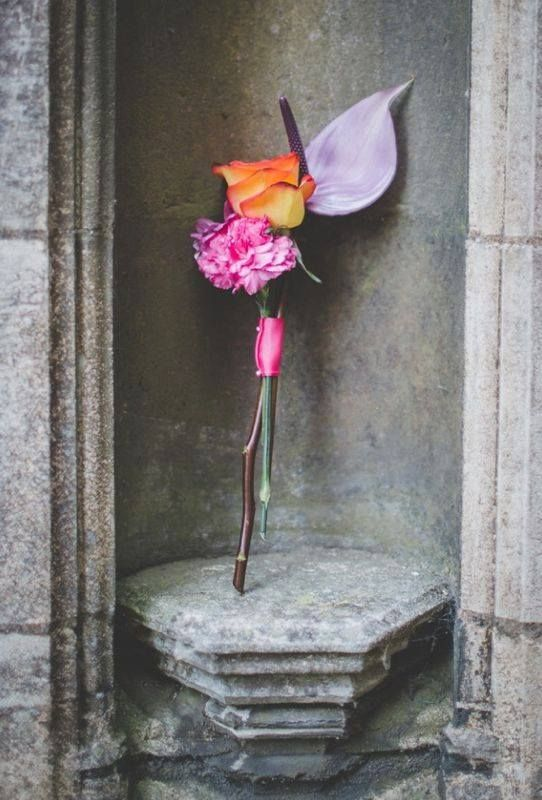 orchid, rose and carnation bridesmaid flowers wand x