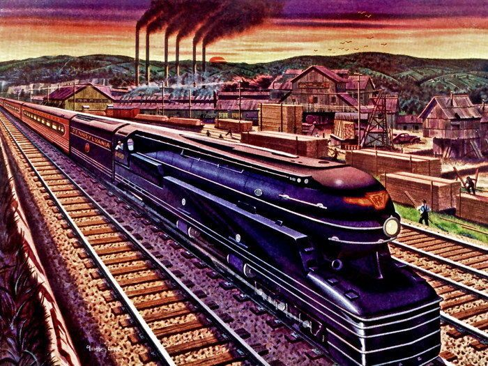 Pennsylvania Railroad 1941 Train Vintage Retro Art Gigantic Print POSTER #PopArt