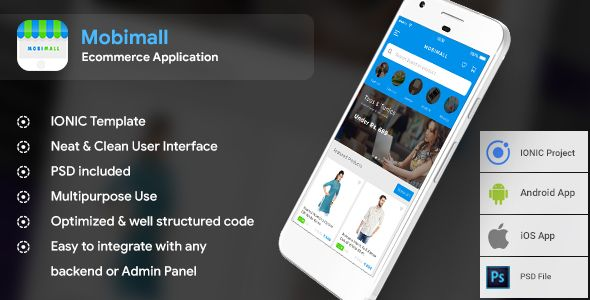 Ecommerce Android Ios App Template Html Css Files In Ionic 3 Mobimall Nulled