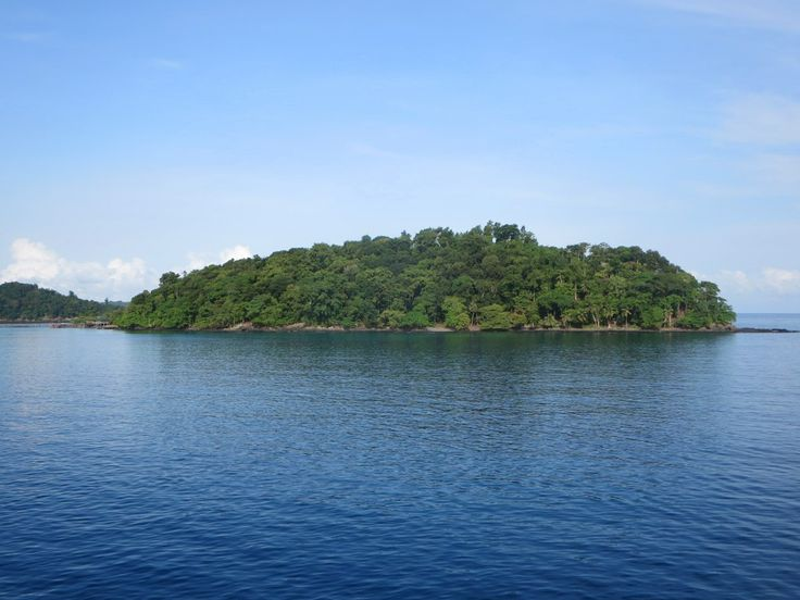 Button-sized Bom Bom Island is just off the northern tip of Principe Island, São Tomé and Príncipe.