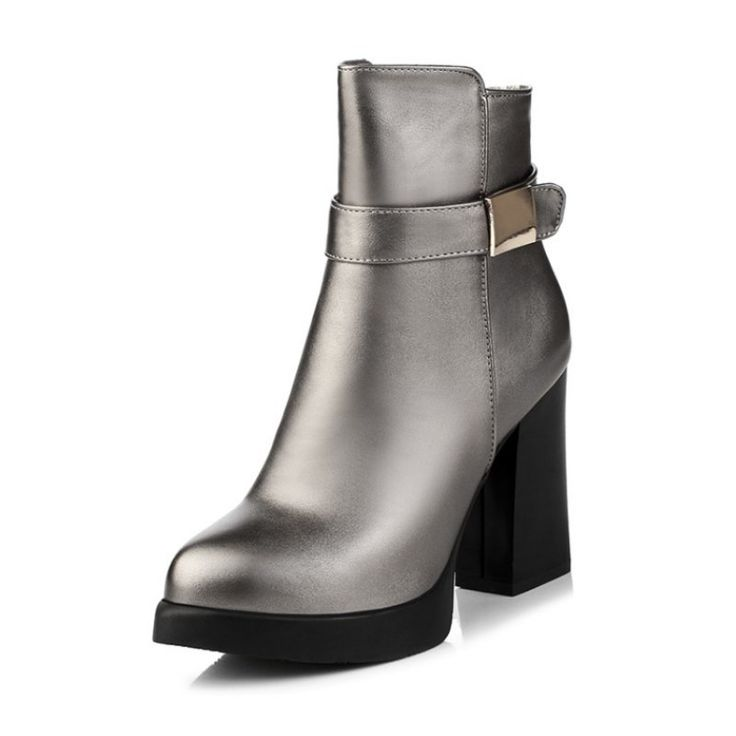 Zena Metallic Ankle Boots
