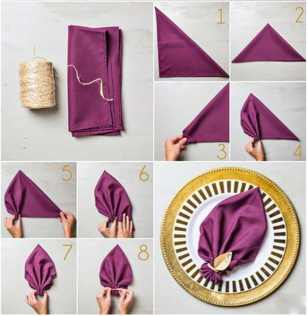 de Pliage Serviette Papier Facile sur Pinterest  Pliage serviette