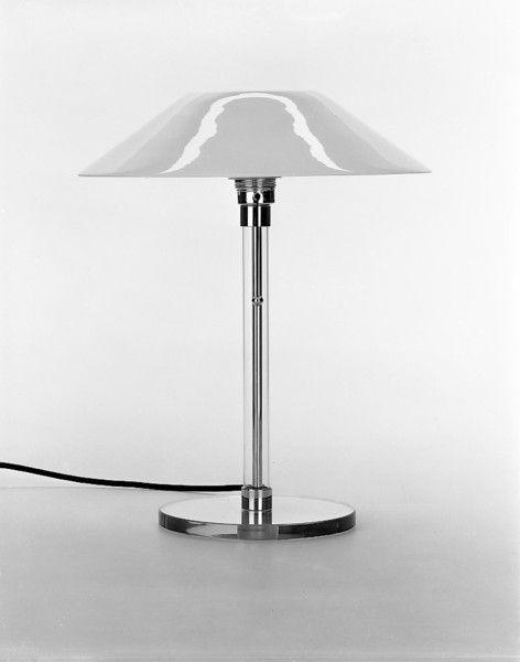 Wilhelm Wagenfeld Bauhaus Lamp with glass shade - Wilhelm Wagenfeld #Historia #Arte #Design @Qomomolo