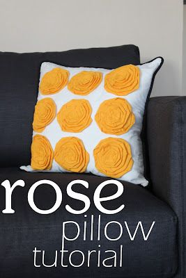 """DIY Rose Pillow on my """"to do"""" list right after I learn how to sew:)"""