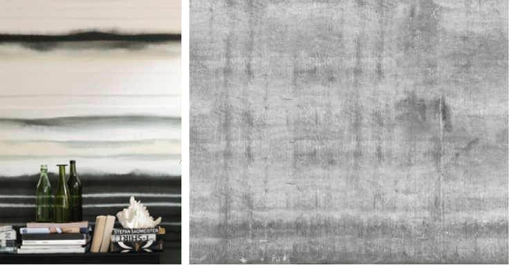 Lempeä, savun omaisesti  kosteaan paperiin leviävä muste innoittaa maalareita ja kuositaitureita.   Kauden parhaissa kuoseissa luonnollinen viiva yhdistyy graafisuuteen. Moderni lopputulos yllättää raikkaudellaan. www.k-rauta.fi #sisustustrendit