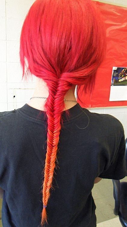 Red to orange ombré
