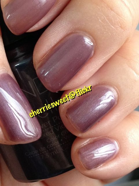 CND Shellac Layering Vexed Violette (1 coat) over Romantique (1 coat)