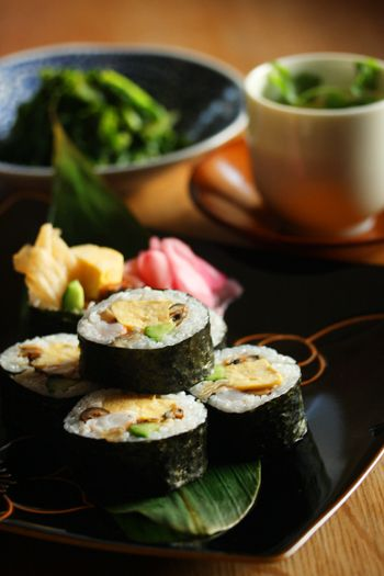 I remember when my mother made these when I was growing up...Eho-maki sushi rolls
