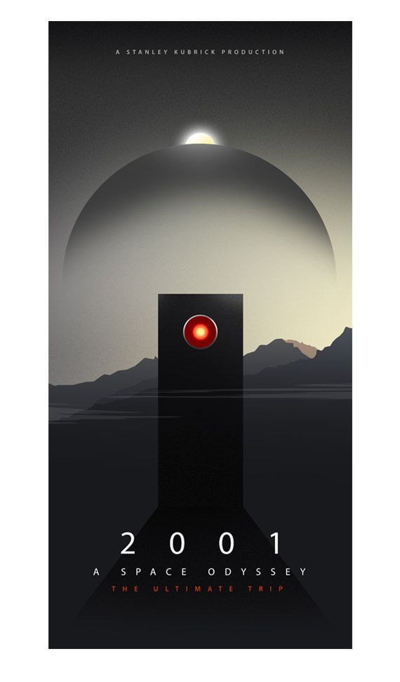 2001: A Space Odyssey Movie Poster by CiaranMonaghan on Etsy