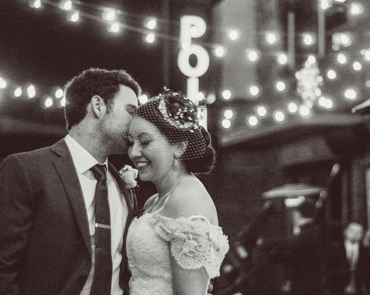An Outdoor Winter Wedding in Athens, GA // The Foundry at Athens | winter, outdoor, foundry, athens wedding photographer, atlanta wedding photographer, black and white, nighttime