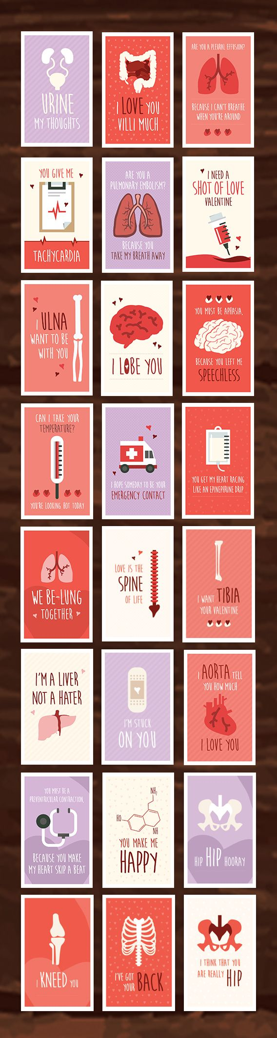 24 Pack Of Funny Medical Valentine S Day Cards Valentine Day Cards Funny Valentines Cards Medical Humor