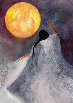 Spirit Lighting the Moon, from: the spirit that moves me: Finding beauty in the earth's shadow