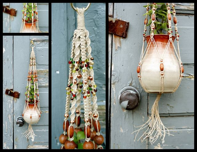 Bohemian Rhapsody- Handmade Natural Hemp Macrame Plant Hanger by Macramaking- Natural Macrame Plant Hangers, via Flickr