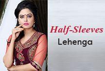 Half Sleev Lehenga Choli