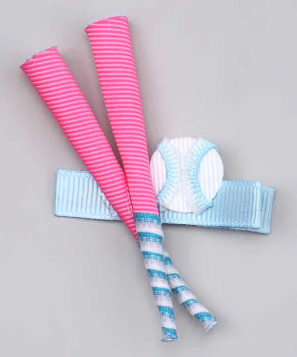 Love this Pink Softball Bat Clip by Pouty Posh on #zulily! #zulilyfinds