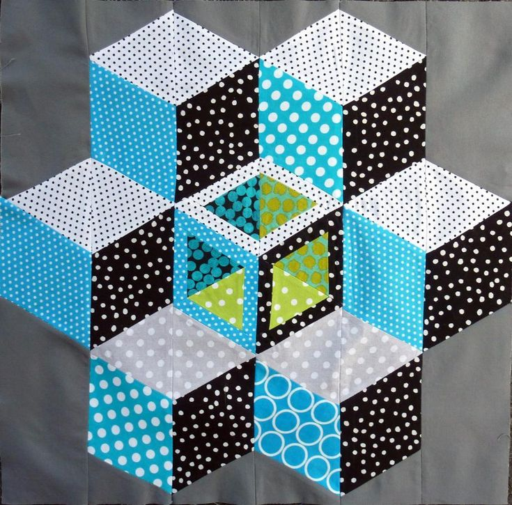 Tumbling Blocks project on Craftsy.com