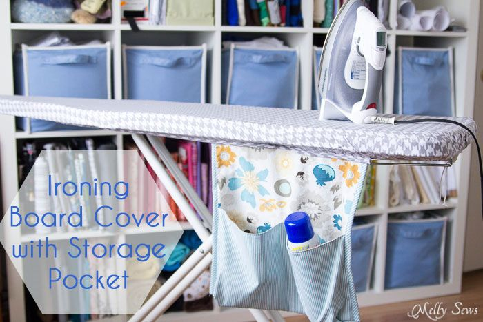 Ironing Board Cover and storage pocket - http://mellysews.com