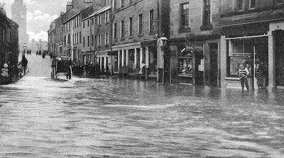 Tour Scotland Photographs: Old Photograph 1910 Flood St Michael Street Dumfries Scotland