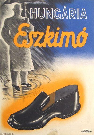 Hungária Eszkimó cipő plakát