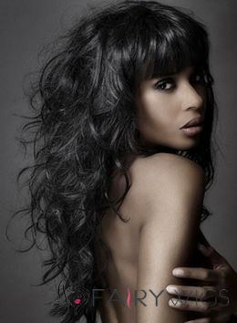 25 trending wigs for black women ideas on pinterest 100 human a long black wavy relaxed hairstyle by junior green urmus Choice Image