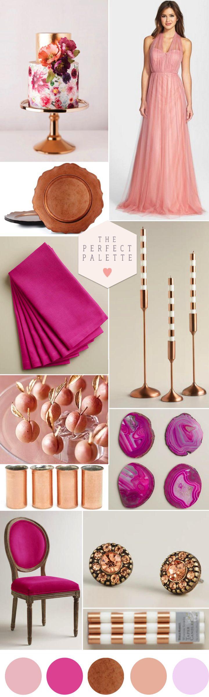 Radiant Orchid, Copper Blush: Wedding Color Inspiration