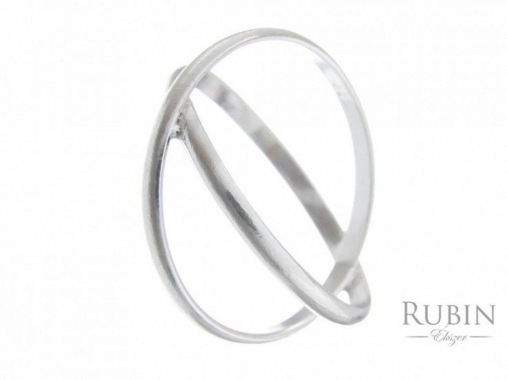 X motívumos ezüst gyűrű