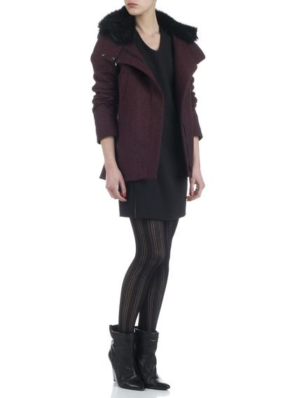 Manteau col fourrure Rouge by I CODE BY IKKS 285€