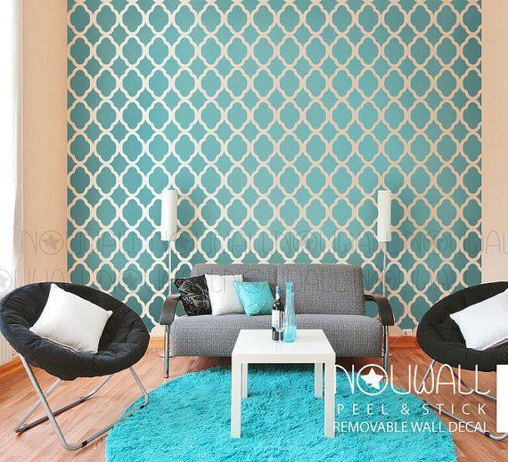 Elegante bloem Marokkaanse wallpaper uitgesneden patroon Wall