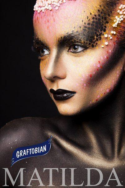 #Matilda for #Graftobian #makeup #model #photo #graftobian #beauty #art #body #face