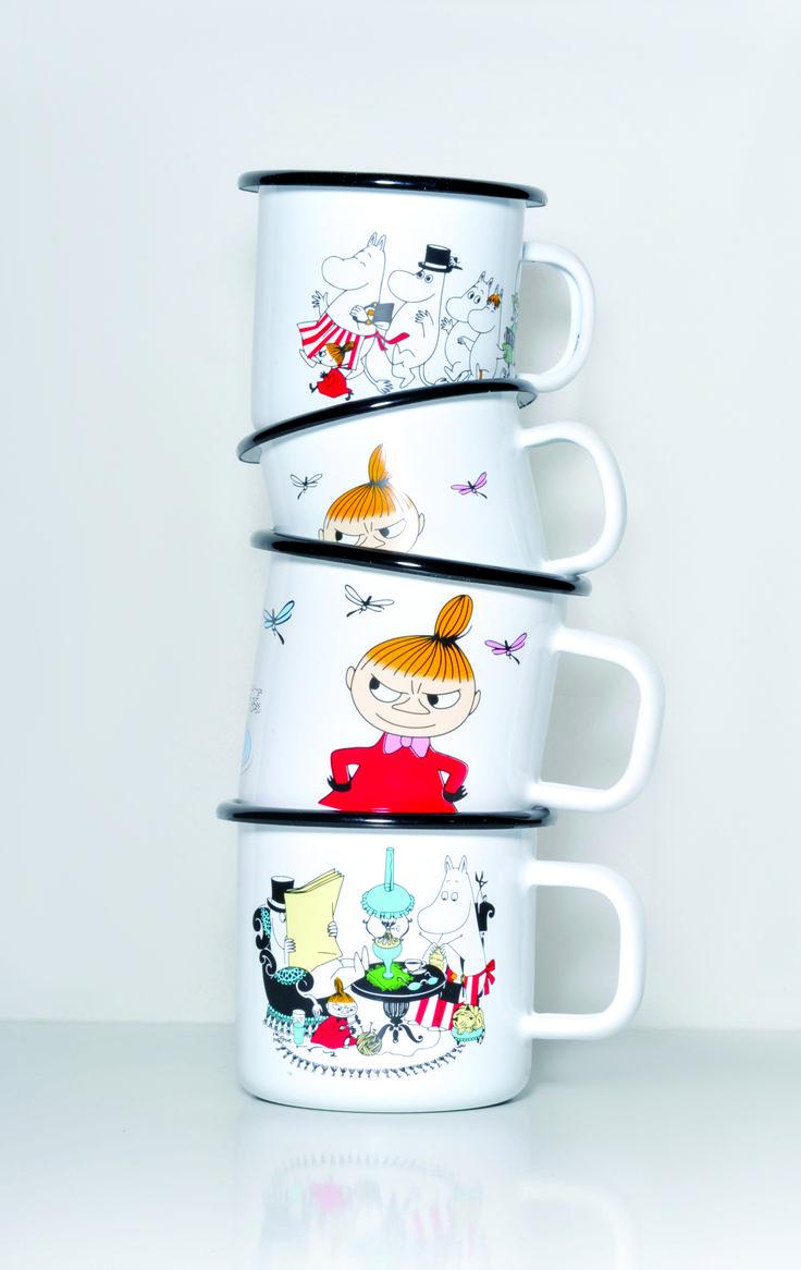 Muumi Emalimukit, Colors / Moomin Enamel Mugs, Colors #Muurla