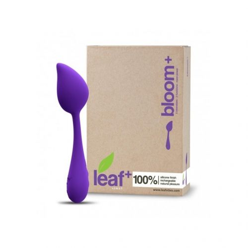 Bloom Plus by Leaf vibrator - beautifully and organically shaped, she has a flexible stem which can adapt to your body's curves and her resemblance to a stem and bud makes it possible to leave her around without attracting undue attention! The Bloom Plus is one of the the most versatile devices in the Leaf range - there is a separate vibration point at each end which can be used simultaneously or independently.