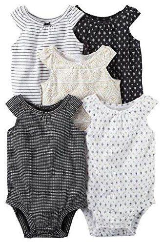 Carter's Baby Girls Multi-Pk Bodysuits 126g548 White Newborn Baby