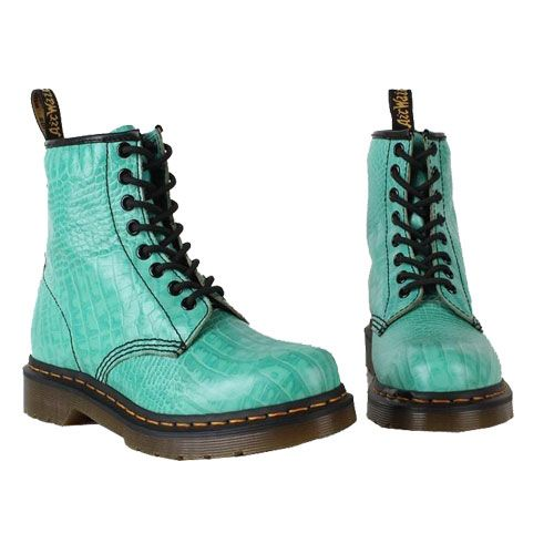 Yay! just bought these! Dr Martens Boots 1460 Vintage Punk Green Croco - www.drmartens1460.org