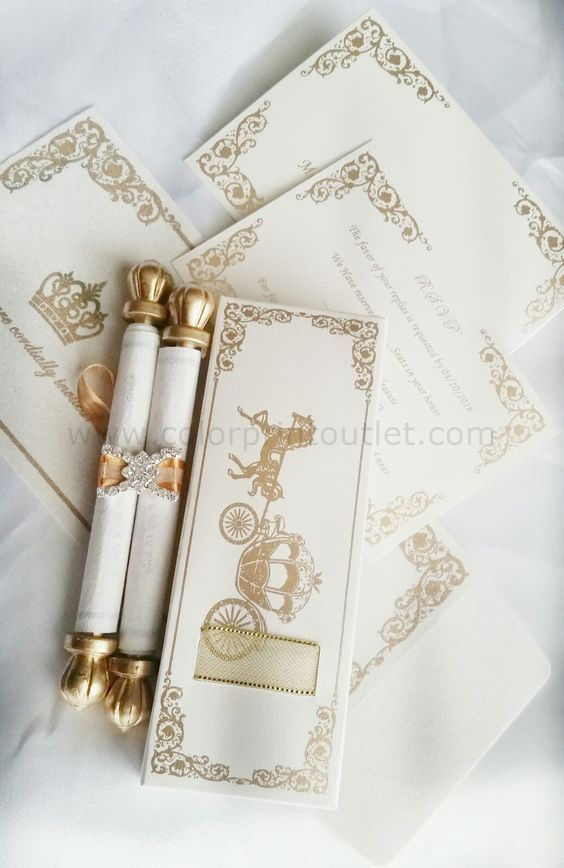 Mini Scroll with matching pouch & envelope (Set of 25) - MSPU -002 Baby shower invitation, Birthday invitation (MSPU-002)