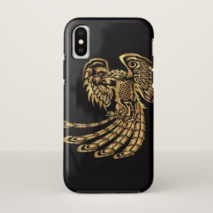 Golden Phoenix Rising iPhone X Case - diy cyo customize create your own personalize