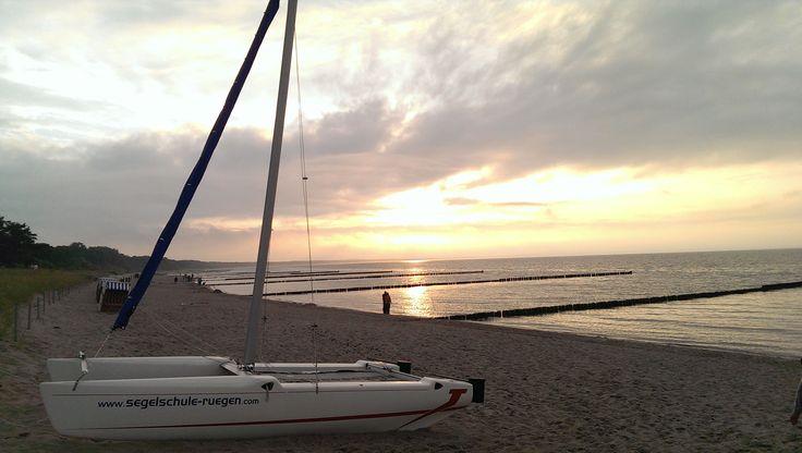 Rügen - Bucht von Glowe in der Abenddämmerung Urlaub auf der - omas küche binz