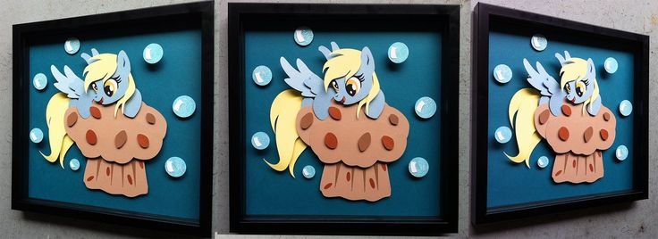 Commission:  Derpy on a Muffin BUILD 2